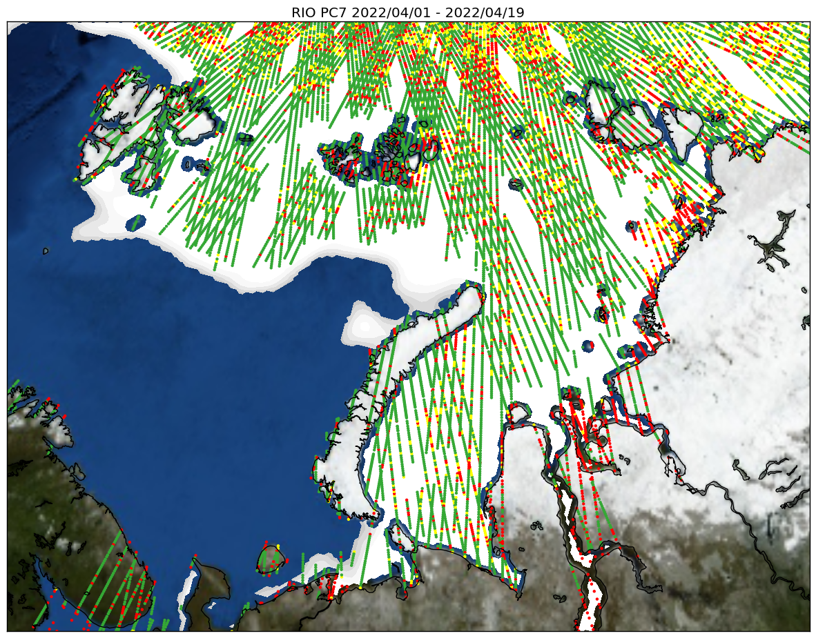 Map of Kara and Barents sea wit Risk Index Outcome (FMI/Finland)